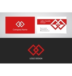 logo and business card vector image