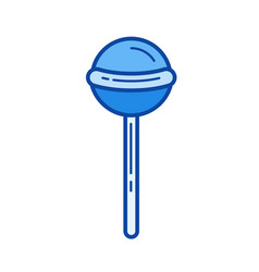 lollipop line icon vector image vector image