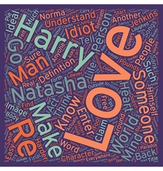 Love text background wordcloud concept vector
