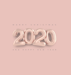 merry christmas greetings and happy new year 2020 vector image