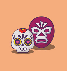 Mexican sugar skull design vector