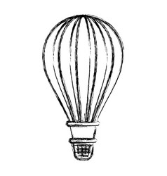 monochrome blurred silhouette of hot air balloon vector image