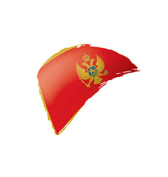 montenegro flag on a white vector image