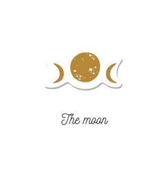 Moon vintage cosmic vector