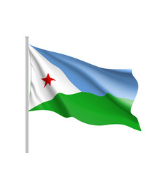 National flag of djibouti vector