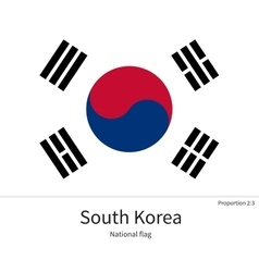 National flag of south korea with correct vector