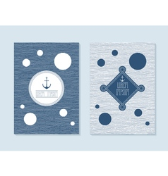 Nautical post cards vector