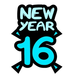 new year 2016 symbol vector image