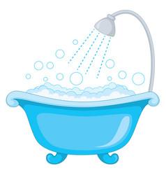 of bathtub vector image