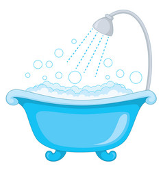 Of bathtub vector