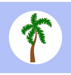 Palm in circle vector