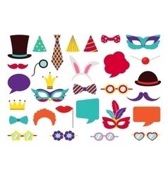 Party Birthday photo booth props vector image