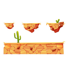 platform with desert for game level interface vector image
