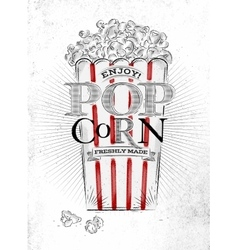Poster popcorn vector image