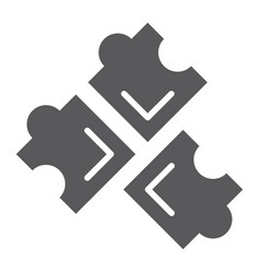 puzzle glyph icon leisure and game piece of vector image