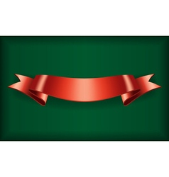Red ribbon bow blank satin vector