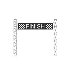 Ribbon in finishing line icon isolated symbol of vector