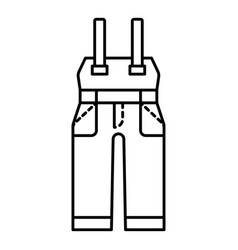 Safety workwear icon outline style vector
