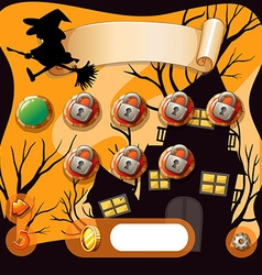 Screensaver of halloween theme game vector