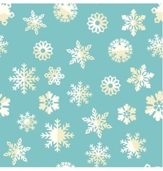seamless pattern with abstract snowflakes vector image