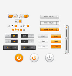 set of flat design ui and ux elements for website vector image vector image