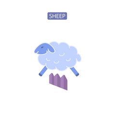 Sheep flat icons vector