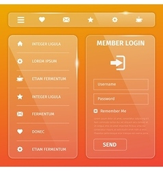 shiny glossy mobile web user interface vector image