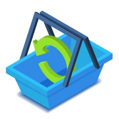 Shopping basket icon isometric style vector