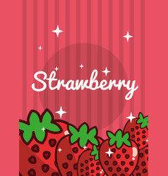 striped bright background fresh natural fruits vector image