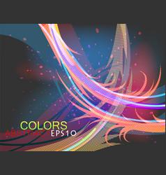 Transparent colors dark style vector