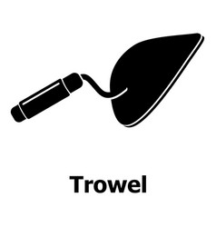 Trowel icon simple black style vector