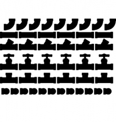 valves and fittings vector image