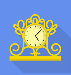 vintage clock icon flat style vector image