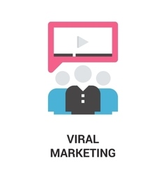 Viral marketing icon concept vector