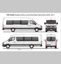 Volkswagen crafter passenger bus l4h2 2011 vector