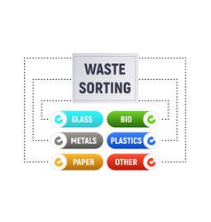 waste sorting vector image