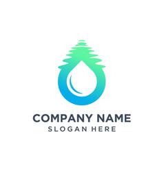 Water drop logo design vector