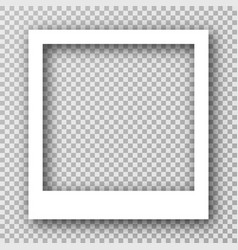 White photo frame for social media with vector