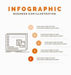 Window mac operational os program infographics vector