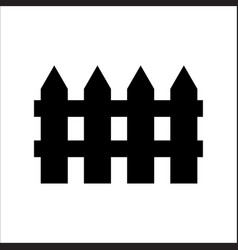 Wooden fence element icon on white eps10 vector