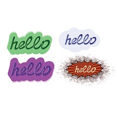 word hello hand lettering vector image