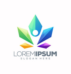 yoga lotus logo design ready to use vector image
