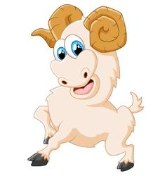 Cartoon happy animal goat posing vector image