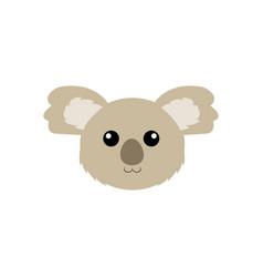 cute animal face vector image