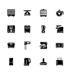 kitchen - flat icons vector image