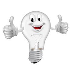 lightbulb man vector image