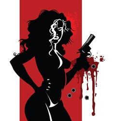 Woman killer vector image