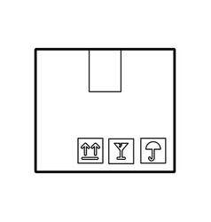 Box carton isolated icon vector