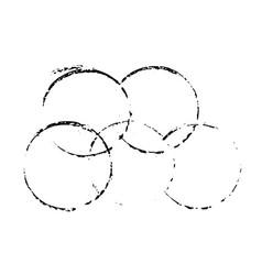 Grunge ink circles watercolor frames set vector