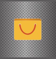 icon bag vector image vector image